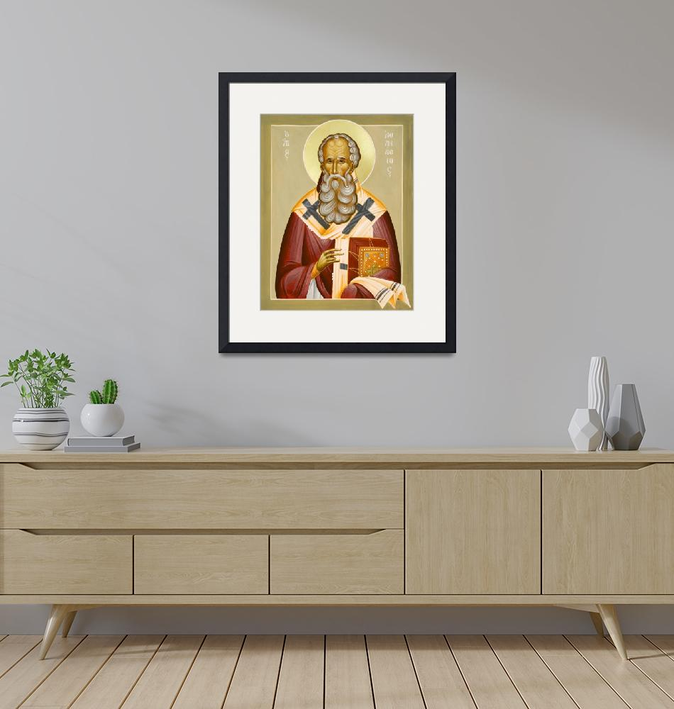 """""""St Athanasios the Great""""  (2013) by ikonographics"""
