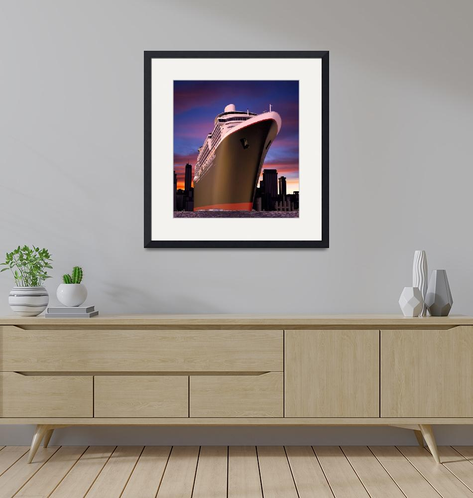 """""""Ocean Liner and City""""  (2010) by jgroup"""
