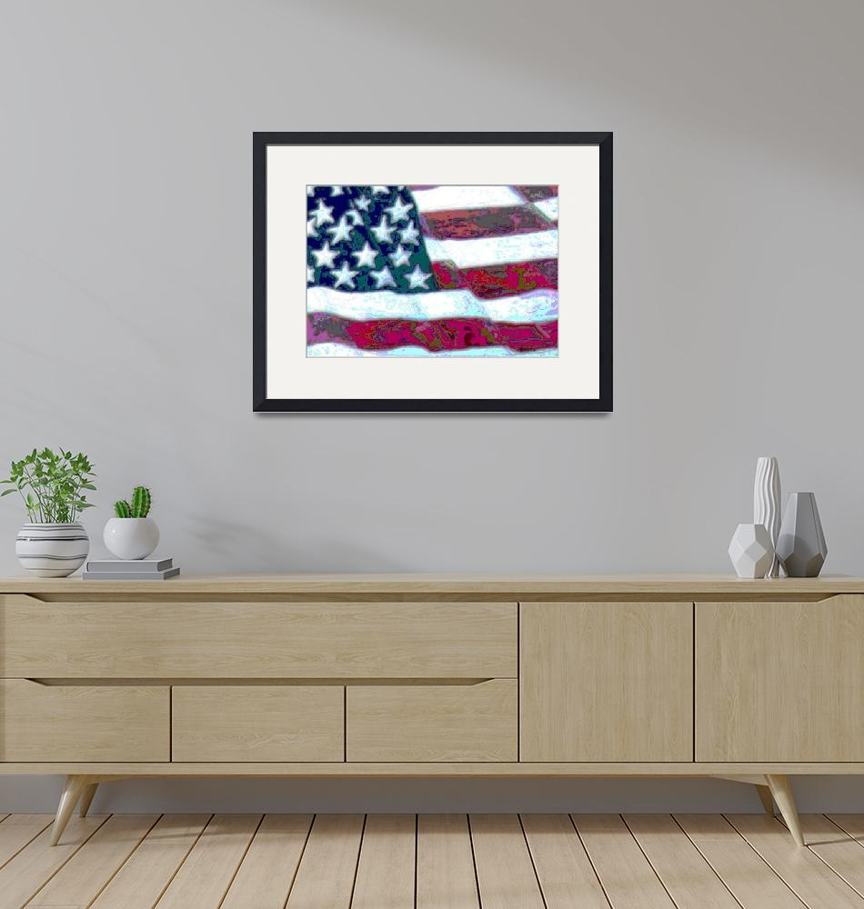 """American Flag""  (2015) by paintingsbygretzky"