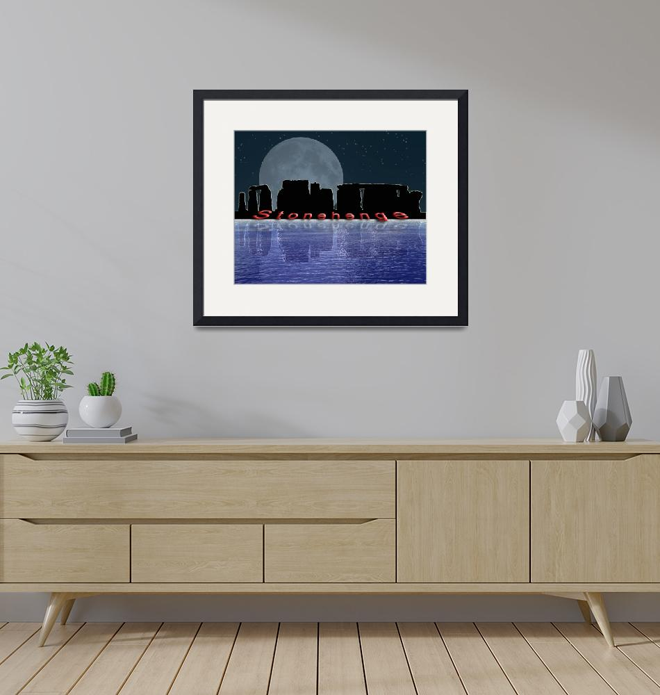 """""""Stonehenge by Moonlight"""" by Gregory"""