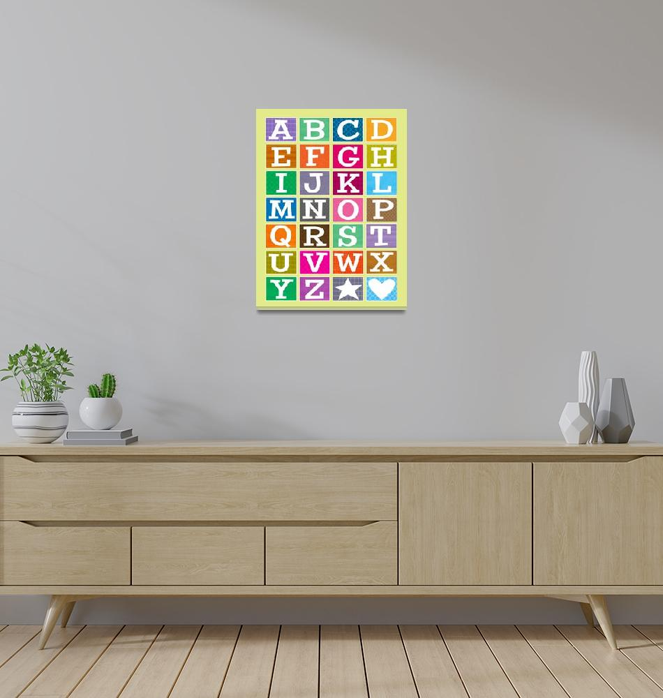 """ABC Alphabet Poster"" (2009) by karynlewis"