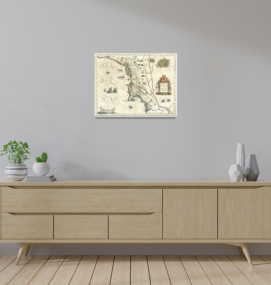 """Map of New England and New York by Blaeu""  by FineArtClassics"