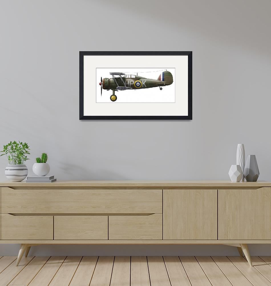 """A Gloster Gladiator Mk II""  by stocktrekimages"