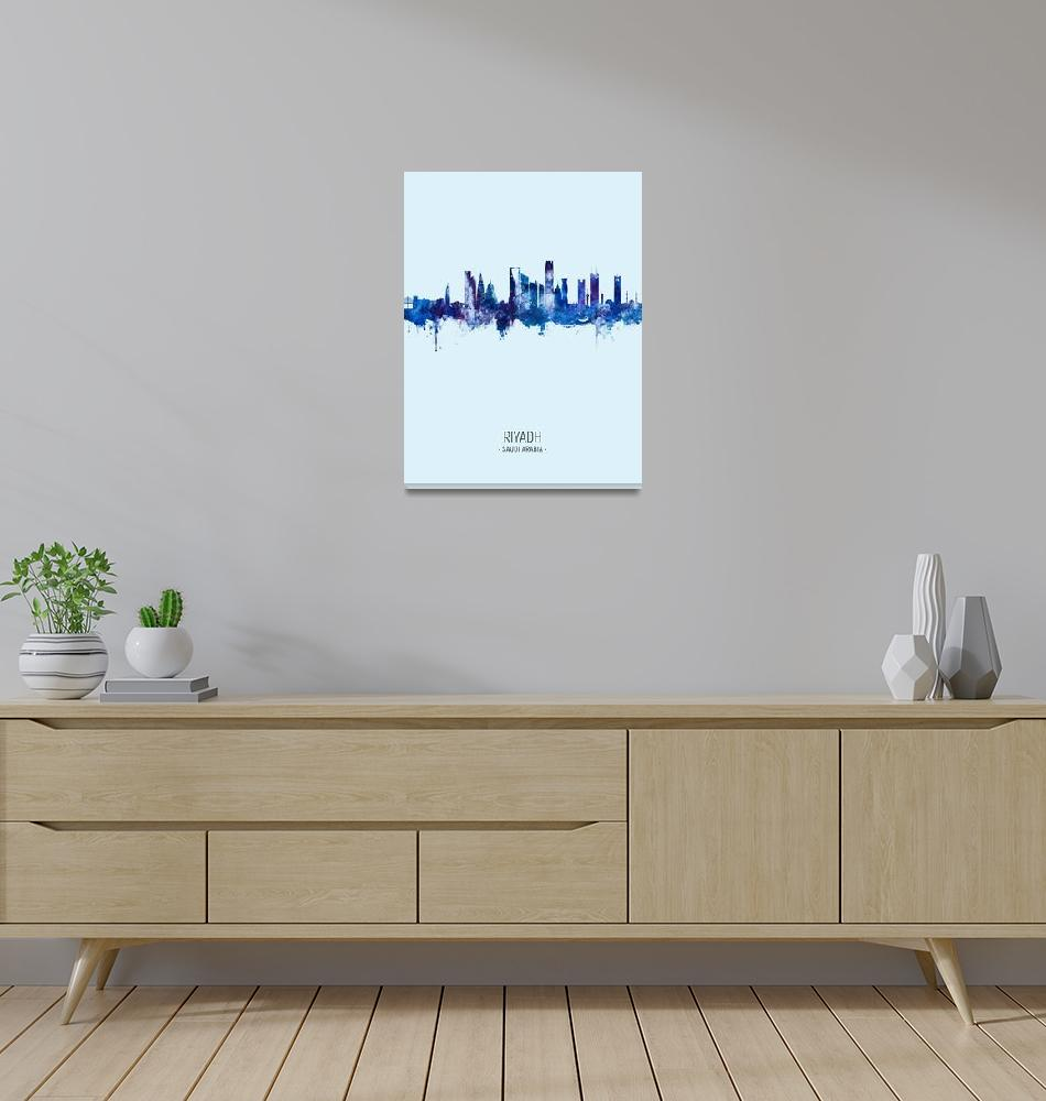 """Riyadh Saudi Arabia Skyline""  (2020) by ModernArtPrints"