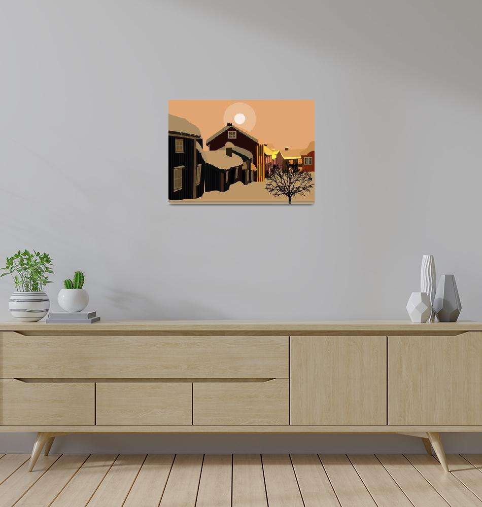 """""""View of a town in the north""""  by Design4uStudio"""