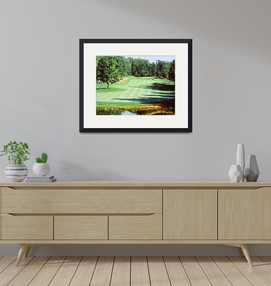 """Golfing in New England""  (2009) by AudieDunham"