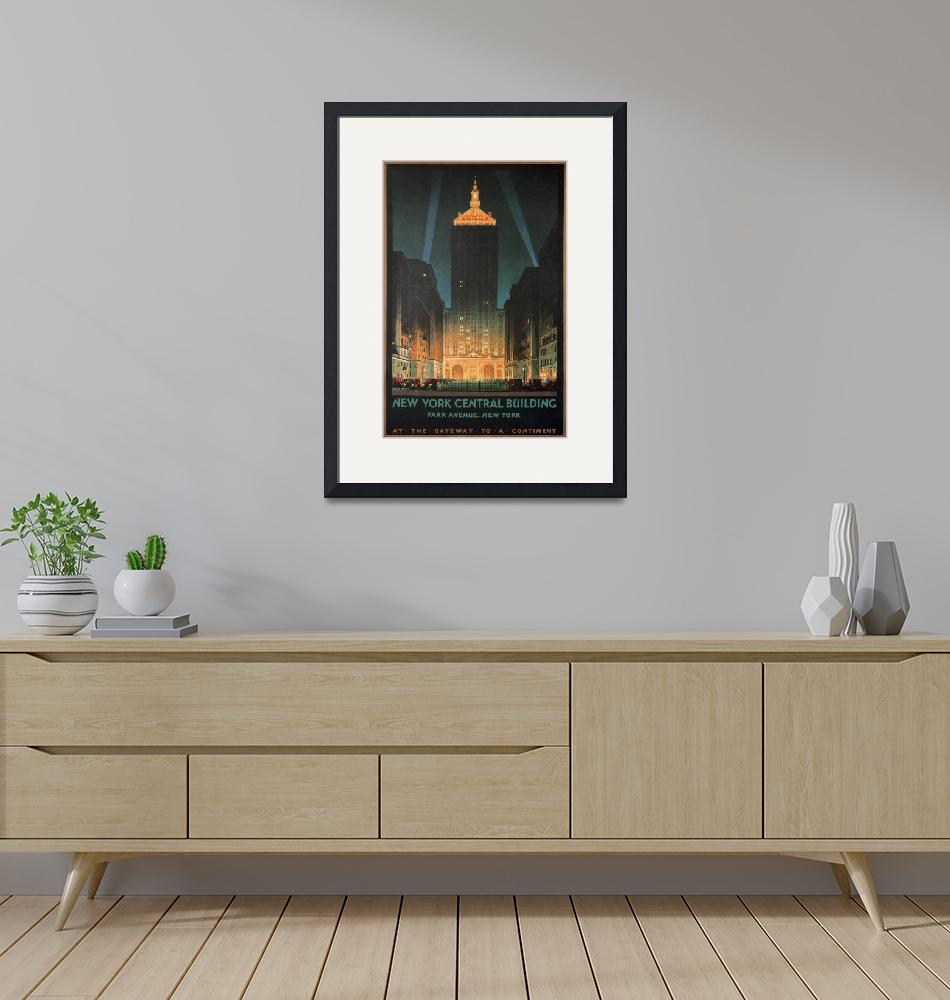 """New York Central Building, Park Ave, NY Poster""  by FineArtClassics"