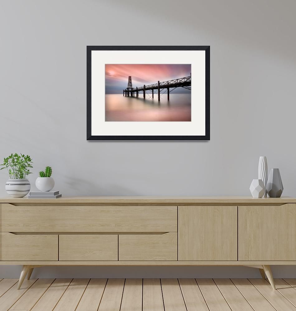 """""""Pier at sunset""""  (2014) by DaveHare"""