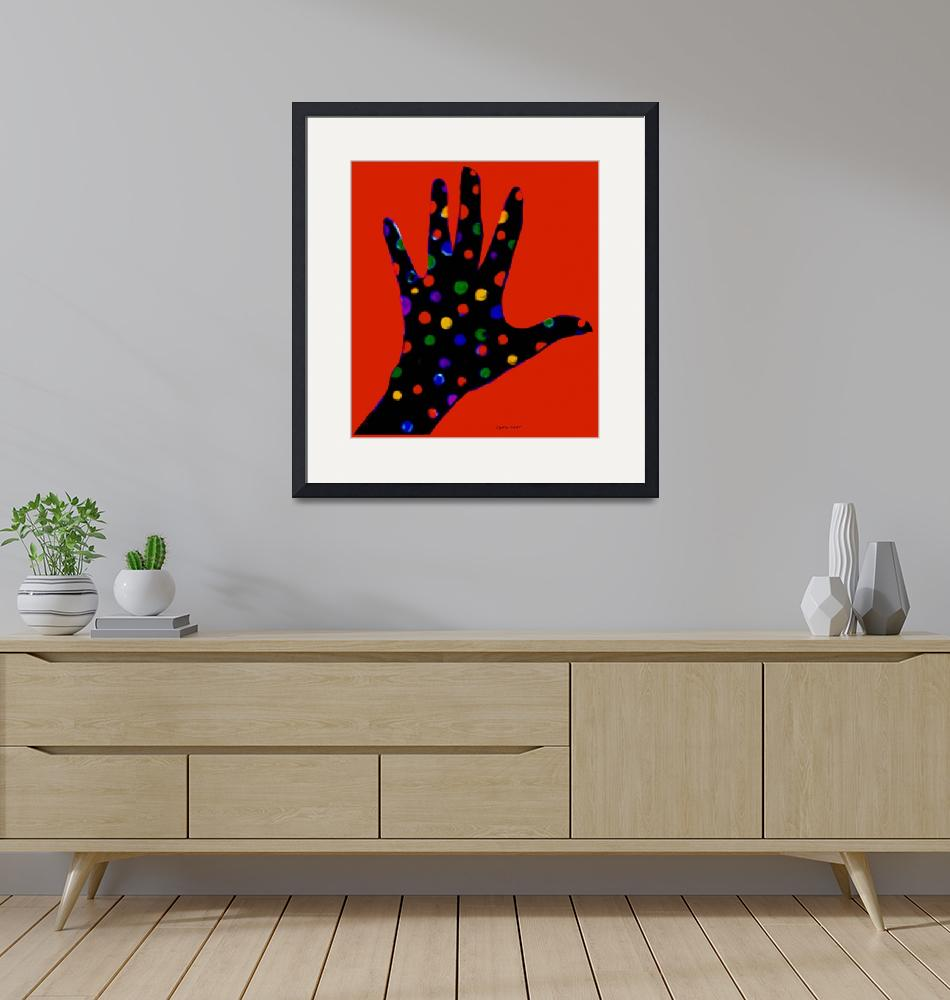 """""""Red Polka Dot Hand""""  by ArtImagesbyLydia"""