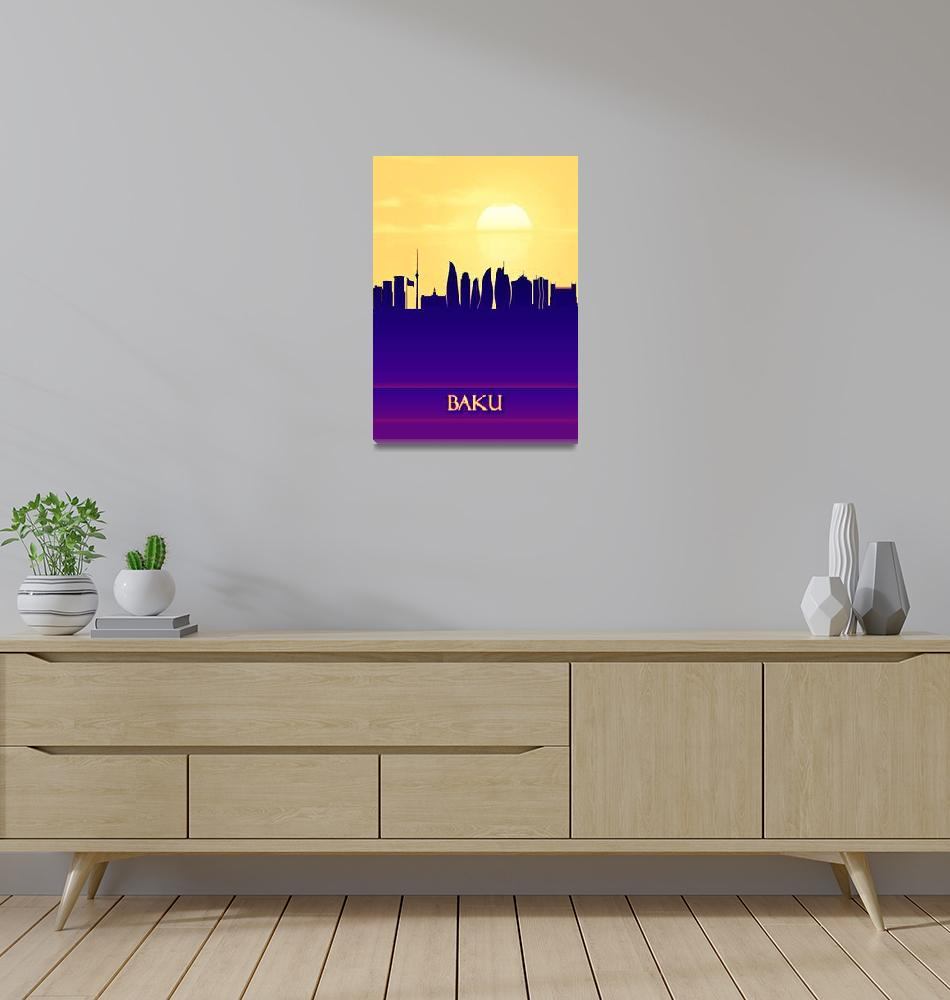 """Baku City Skyline""  by Towseef"