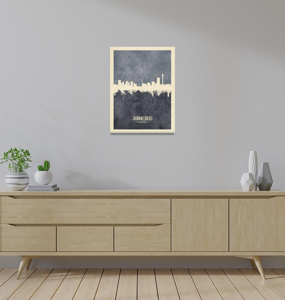 """Johannesburg South Africa Skyline""  (2018) by ModernArtPrints"