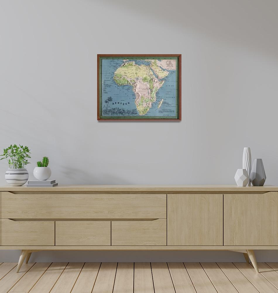 """""""Vintage Africa Map (1865) Vintage African Continen""""  by Alleycatshirts"""