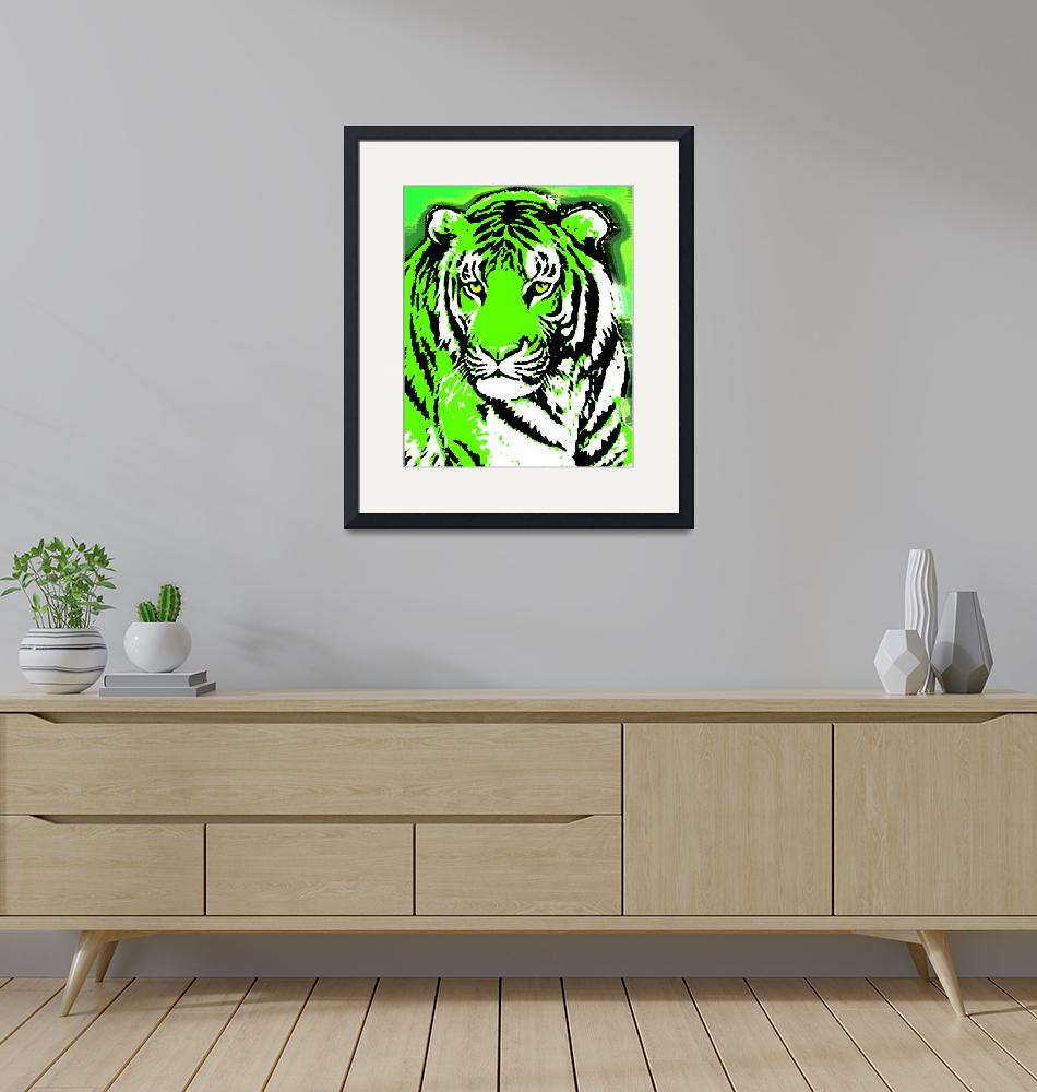"""""""TIGER-3 (LARGE) GREEN""""  by thegriffinpassant"""