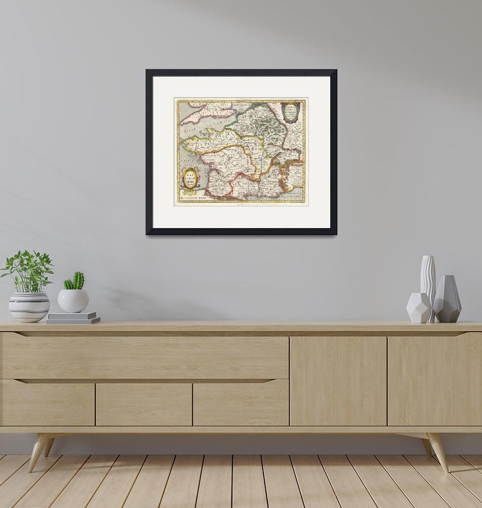 """Map of France or Gaul in Antiquity by Jan Jansson""  by FineArtClassics"