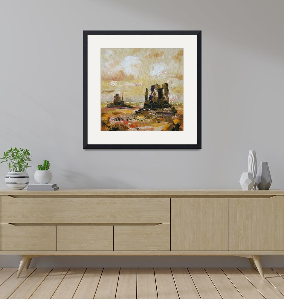 """""""Monument Valley Oil Painting by Ginette Callaway""""  (2003) by GinetteCallaway"""
