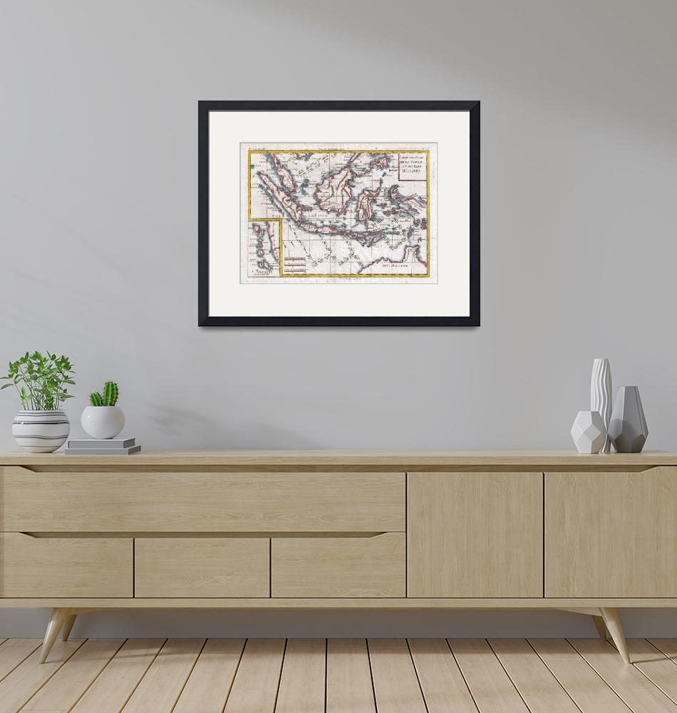 """""""Vintage Map of Indonesia (1780)""""  by Alleycatshirts"""
