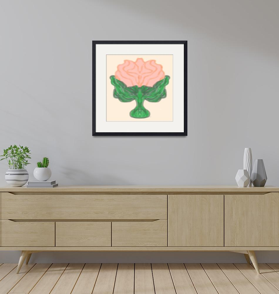 """""""Abstract Rose in Peach""""  (2016) by SeaAngel"""