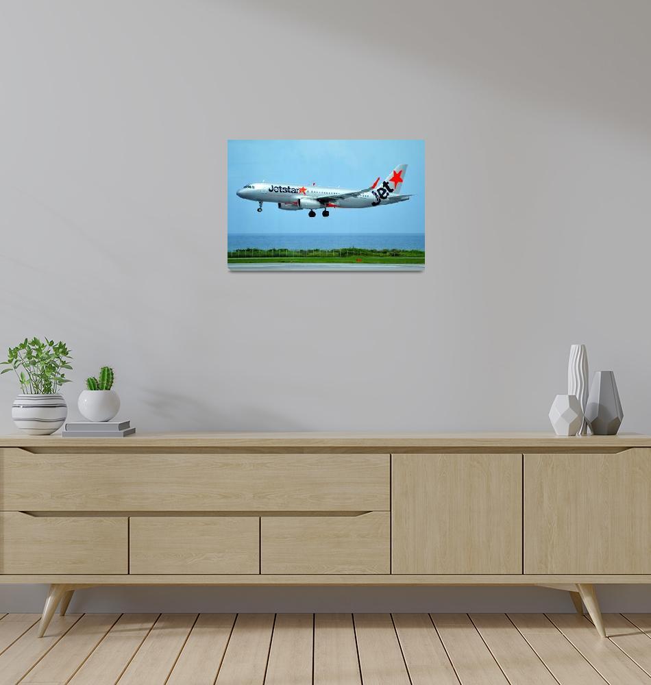 """""""Jetstar A320, JA17JJ Landing""""  (2017) by JoaoPonces"""
