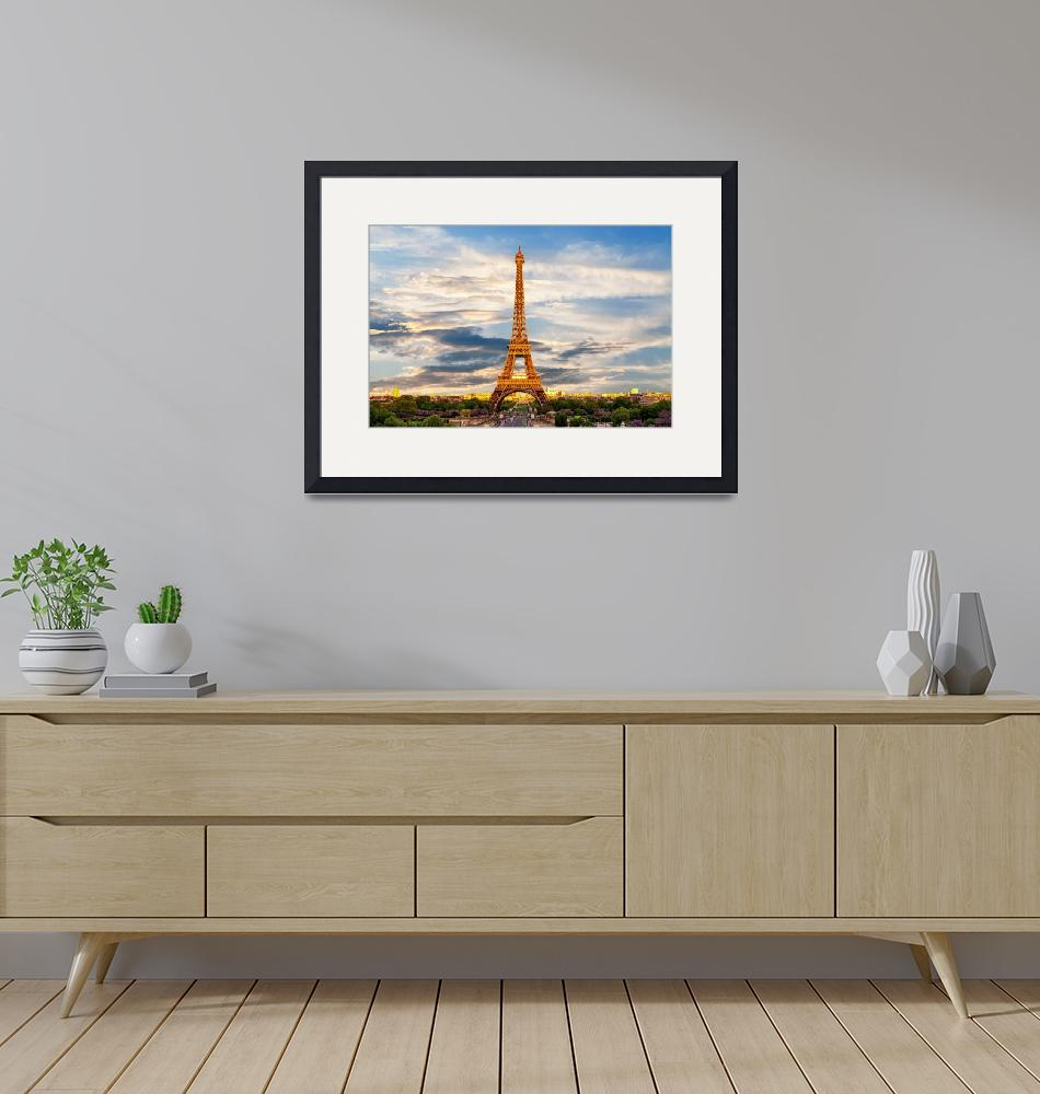 """Eiffel Tower""  by ArtPrintable"
