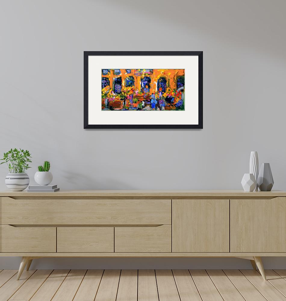 """""""Market in Provence France Original Painting by Gin"""" (2006) by GinetteCallaway"""