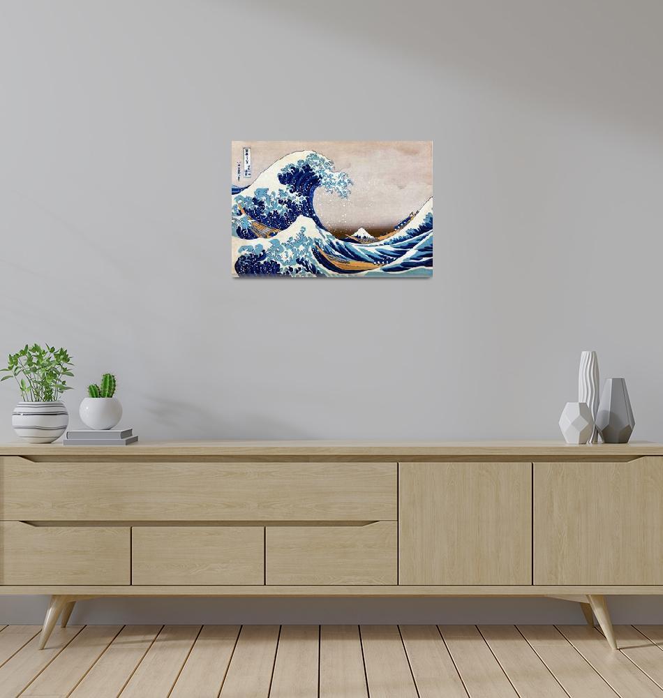"""Katsushika Hokusai The Great Wave Off Kanagawa""  by artpictures"