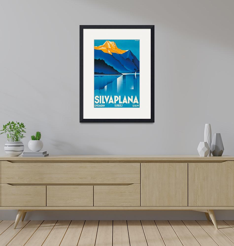 """Silvaplana Vintage Travel Poster""  by FineArtClassics"