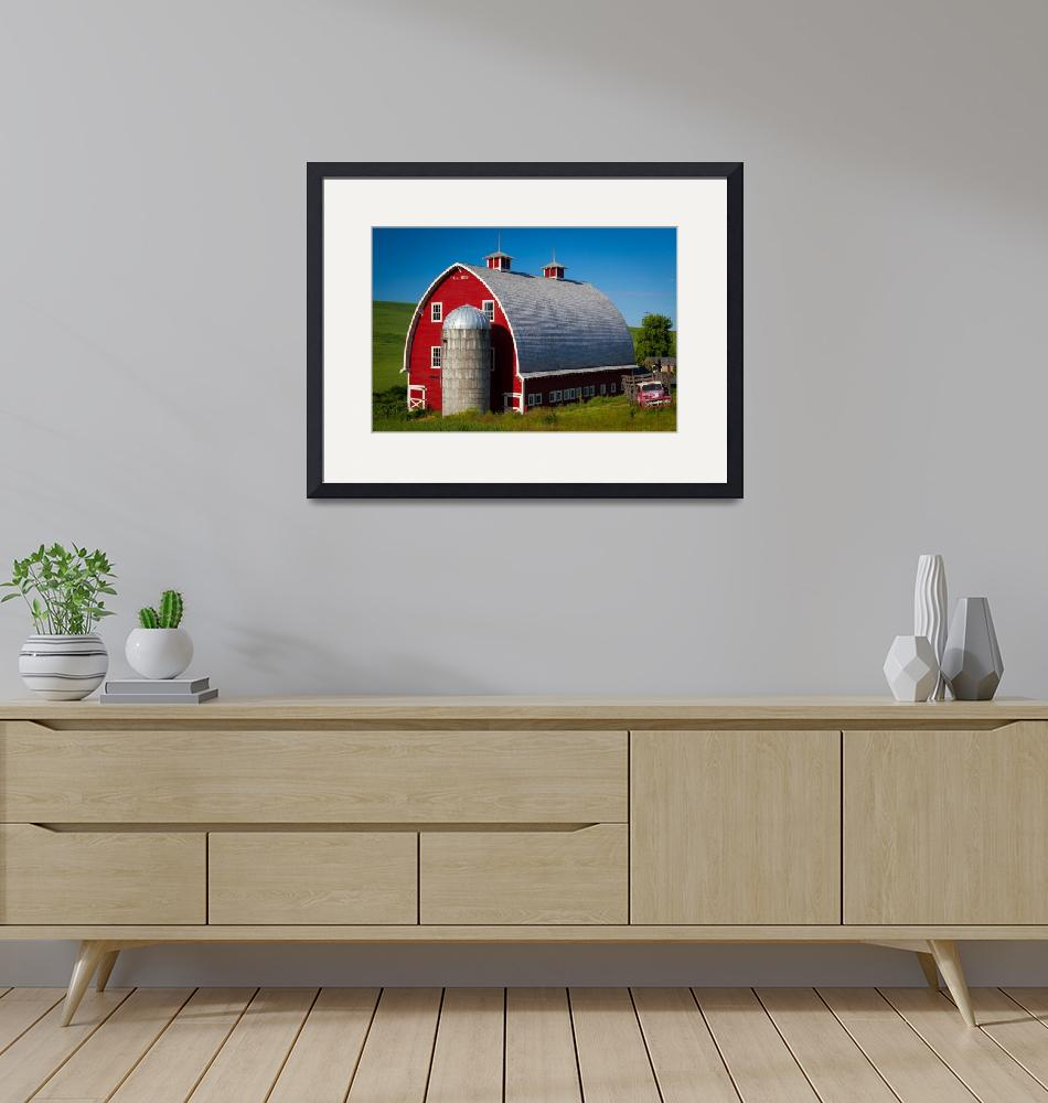 """Palouse Red Barn #1""  (2011) by Inge-Johnsson"