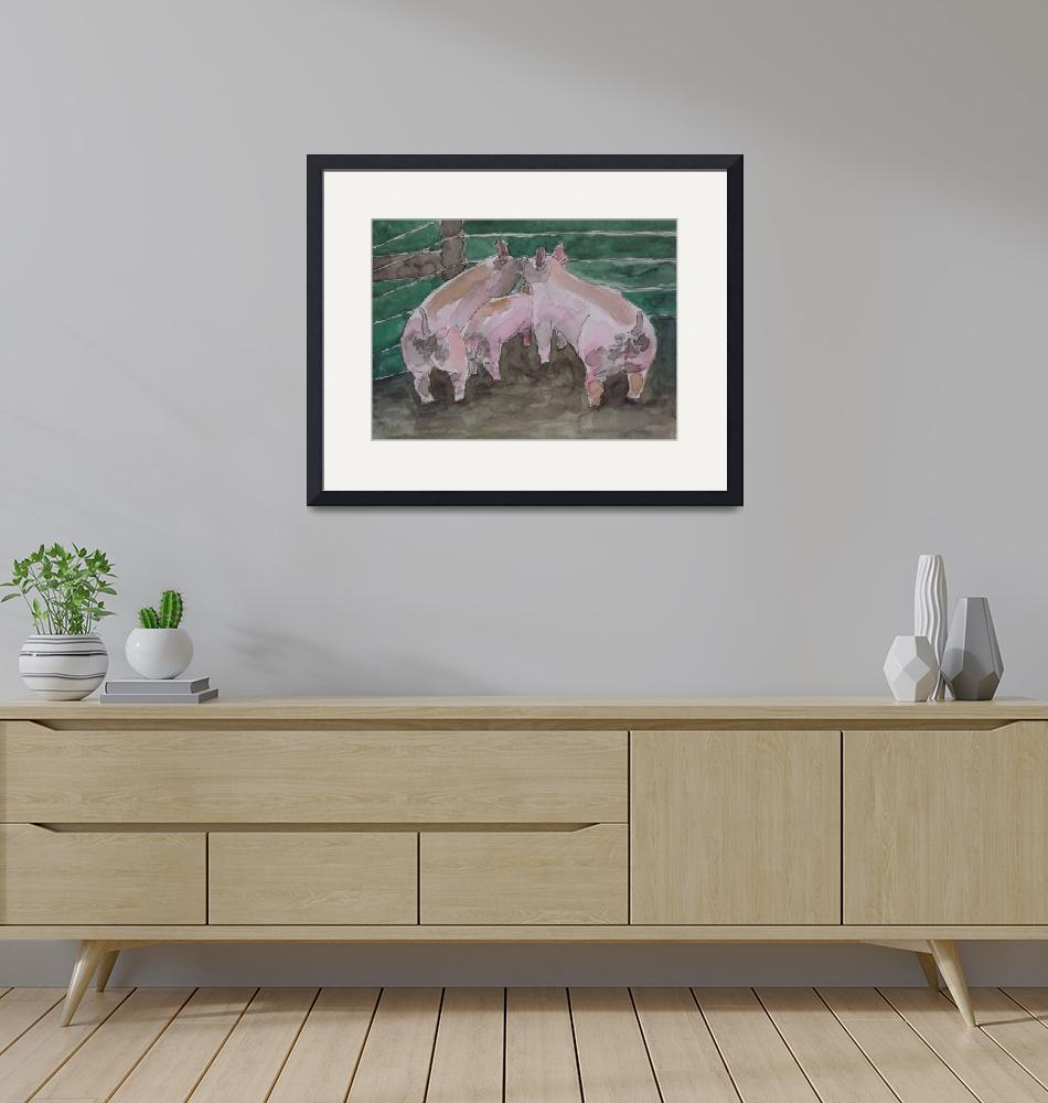 """Three Little Pigs""  (2013) by MarcyBrennanArt"