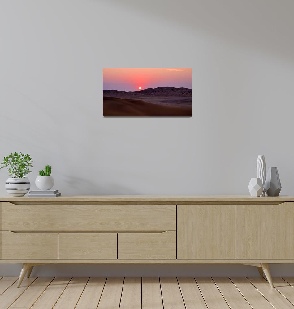 """""""Sunset at Gobabeb, Namibia""""  by ArtHistory"""