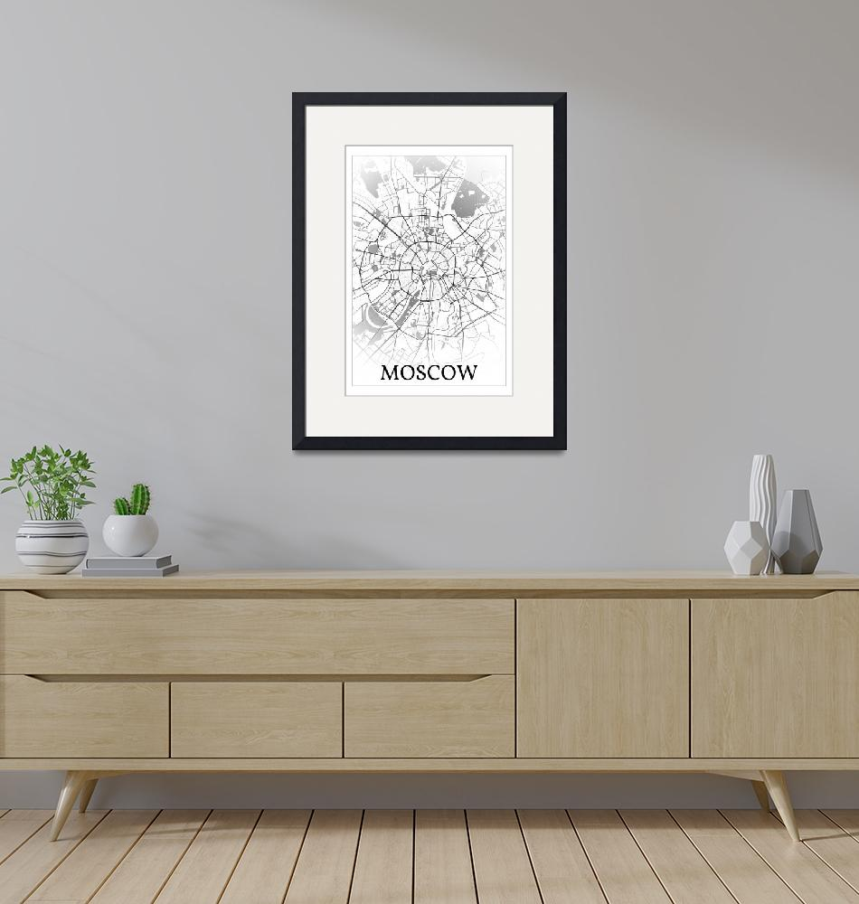 """""""Moscow, Russia, city map print."""" by dandistudio"""
