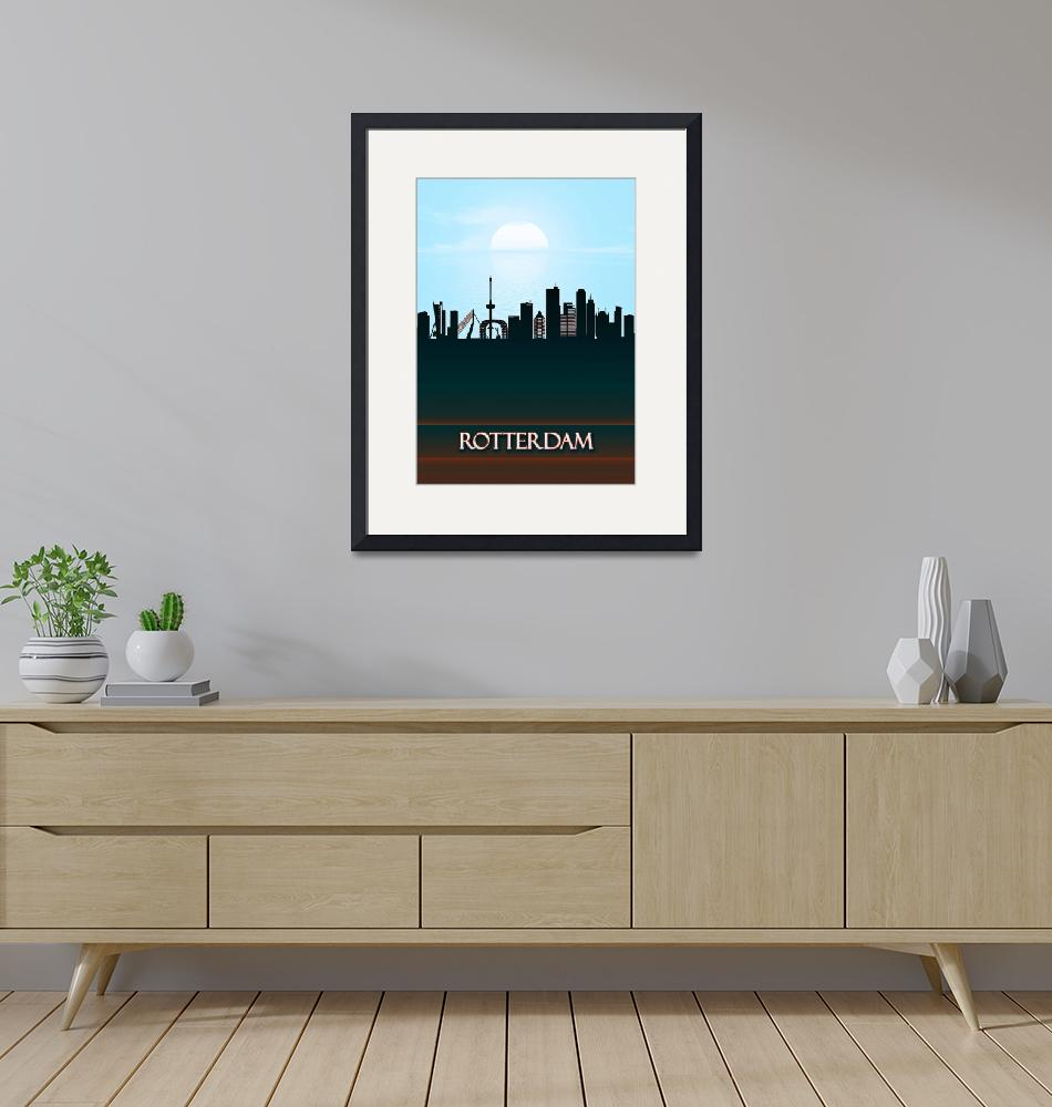 """""""Rotterdam City Skyline""""  by Towseef"""