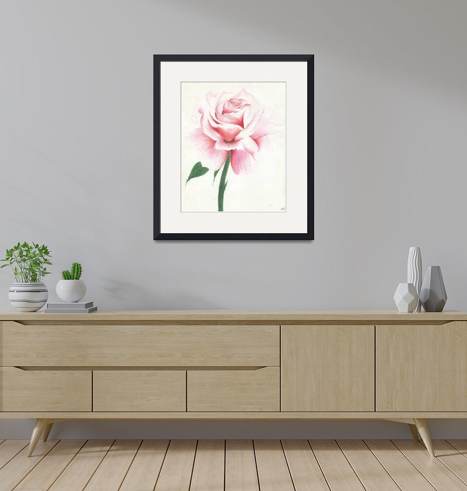 """""""Roses Are Pink""""  (2015) by HeyJudeArts"""