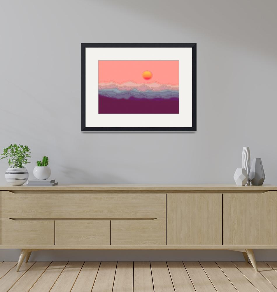 """""""Abstract Dceorative Hilly Salmon Sunrise 2""""  (2013) by TheNorthernTerritory"""