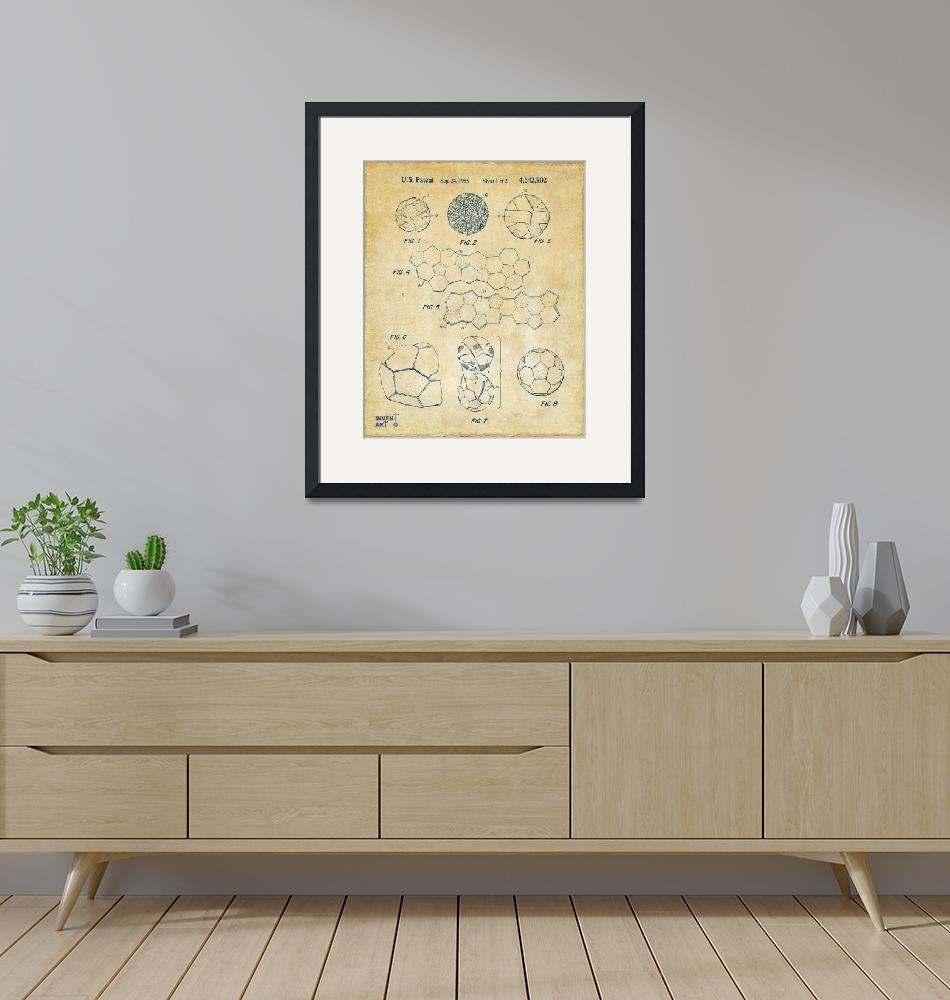 """Soccer Ball Construction Patent Artwork Vintage""  (2014) by nikkismith"
