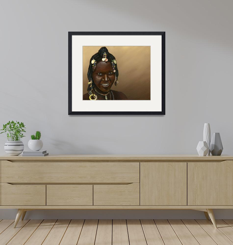 """""""African Woman"""" (2010) by mosesbrown"""