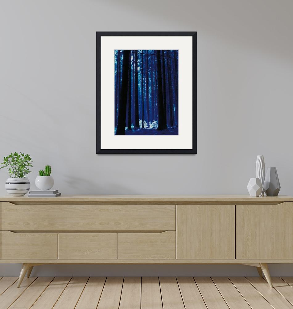 """""""Blauwald""""  (1990) by fineartphotogifts"""