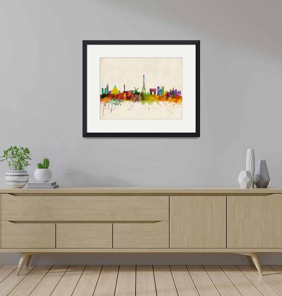 """Paris Skyline""  (2013) by ModernArtPrints"