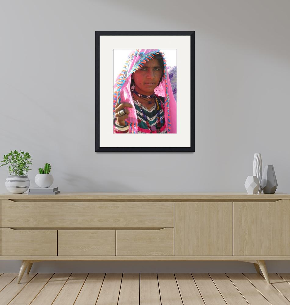 """""""Woman from Thar 423""""  by davies"""