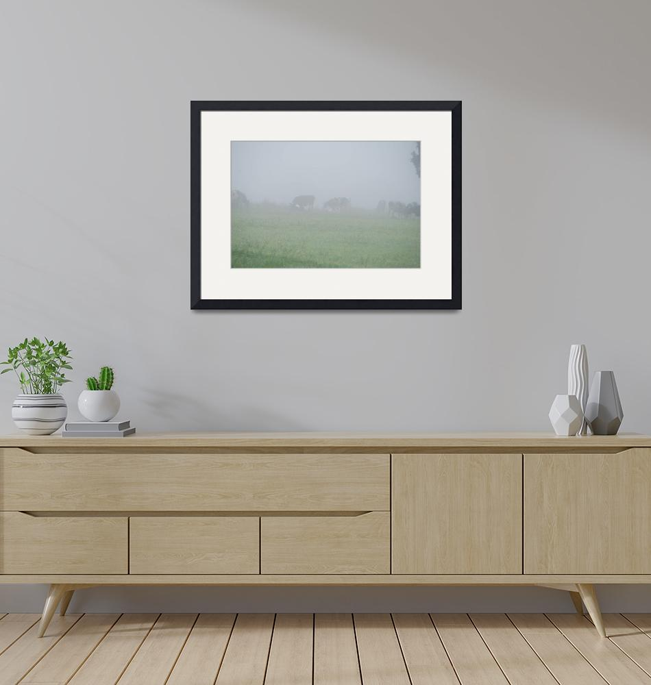 """""""A FOGGY DAY ON THE FARM""""  (2010) by barbsummering"""