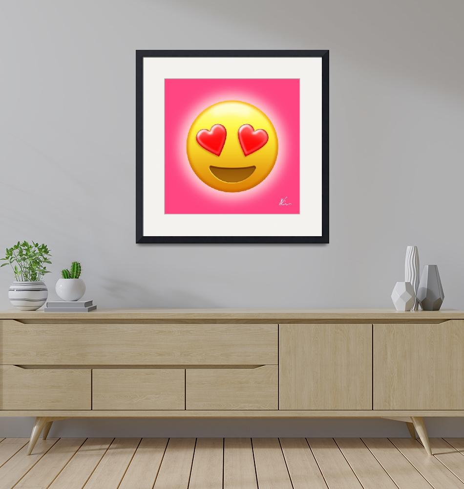 """""""Smiling Face with Heart-Eyes Emoji   Pop Art""""  (2020) by wcsmack"""
