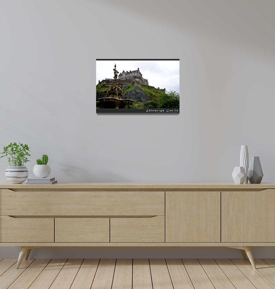 """Edinburgh Castle I""  (2013) by aGeekonaBike"