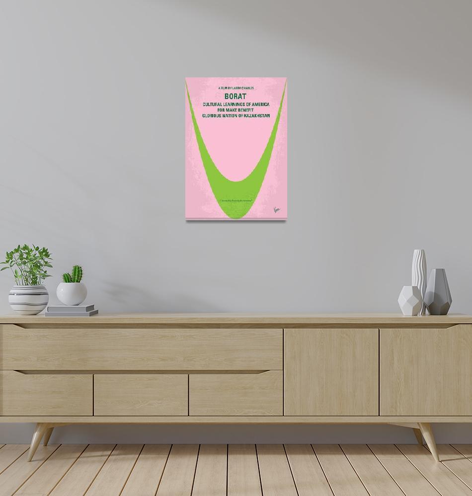 """""""No386 My Borat minimal movie poster""""  by Chungkong"""