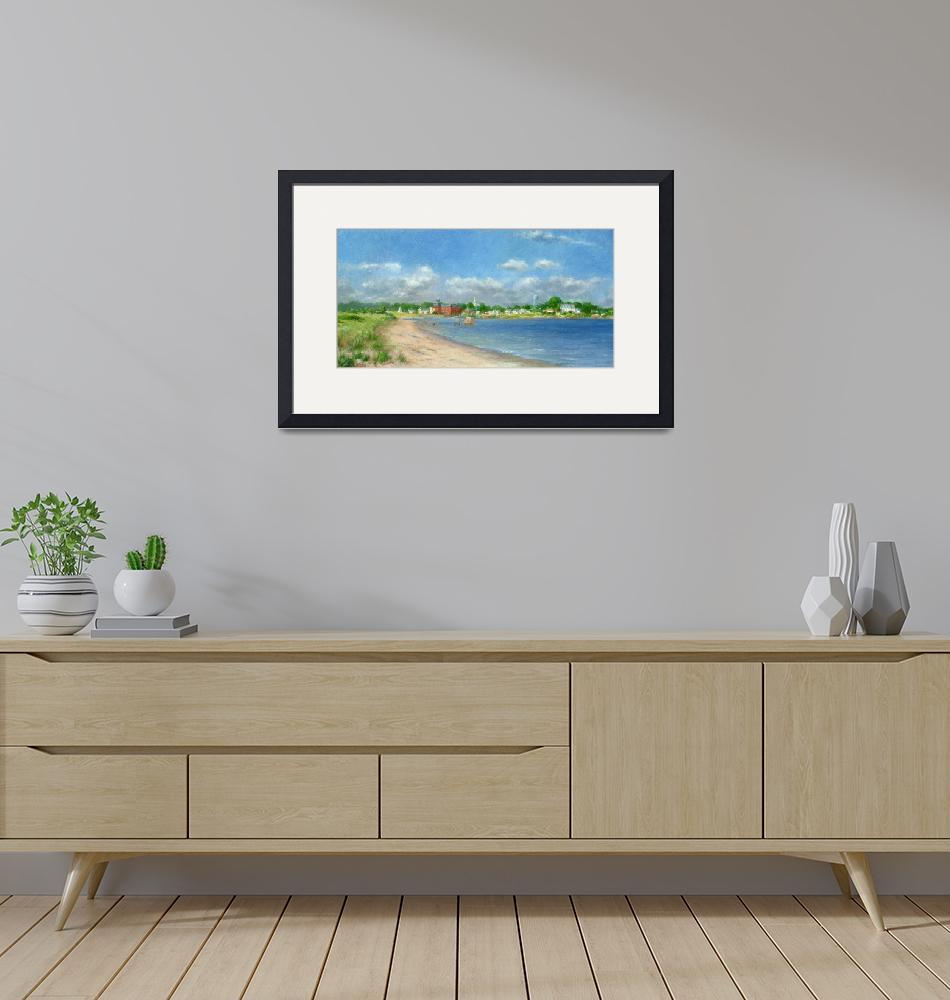 """""""View of Stonington From Sandy Point""""  (2005) by blaney"""