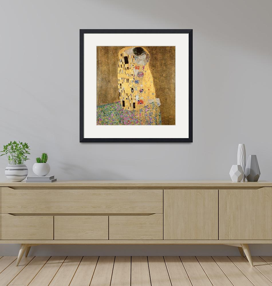 """""""The Kiss, 1907-08, by Gustav Klimt""""  by fineartmasters"""