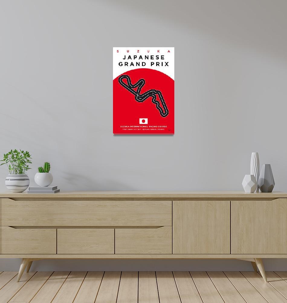 """""""My F1 SUZUKA Race Track Minimal Poster""""  by Chungkong"""