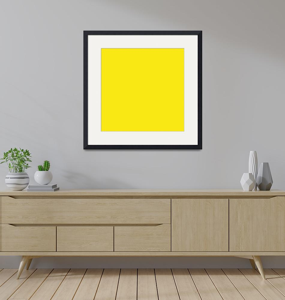 """Square PMS-102 HEX-F9E814 Yellow""  (2010) by Ricardos"