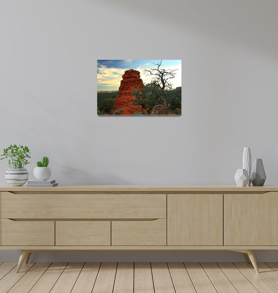 """Sedona at Twilight""  (2015) by SylviaClaiborne"