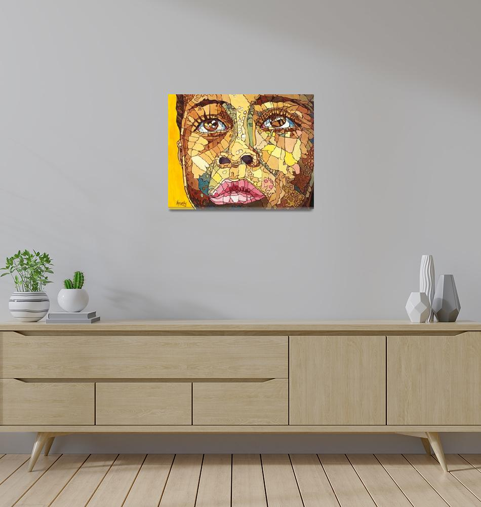 """Close African face""  (2011) by ArtbyRobertMahosky"