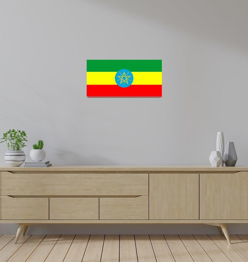 """Ethiopia country flag""  by tony4urban"