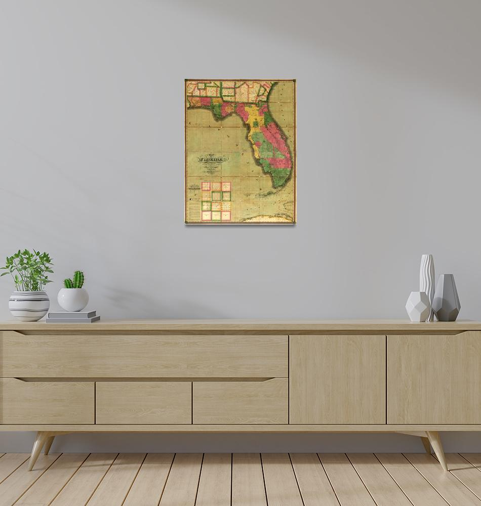 """""""Map of Florida (1829)""""  by ArtHistory"""